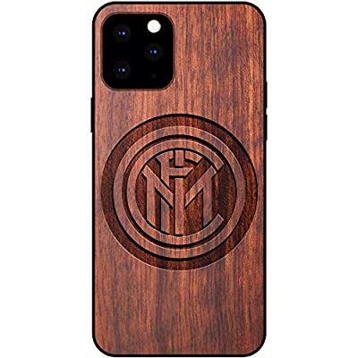 Inter Milan iPhone 11 Pro Case - Fan Mahogany Protective Stylish & Eco-Friendly Wood Cover for iPhone 11 Pro