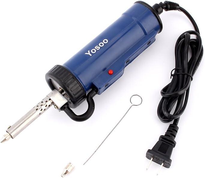 Bomba desoldadora de estaño profesional, Sucker Desoldering Vacuum Pump para la eliminación de estaño, 30 W, 220 V, 50 Hz, eléctrica, para soldar el hierro de la pistola, azul
