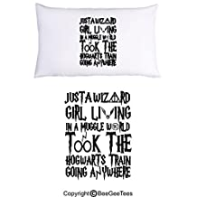 Just A Wizard Girl Funny Harry Potter Pillowcase by BeeGeeTees (1 Queen Pillowcase)