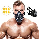 #9: Training Mask | Sport Workout for Running Biking Fitness Jogging Cardio Endurance Exercise Breathing with Air Flow Level Regulator for Men Women | Simulate High Altitude Elevation Effects by Veoxline
