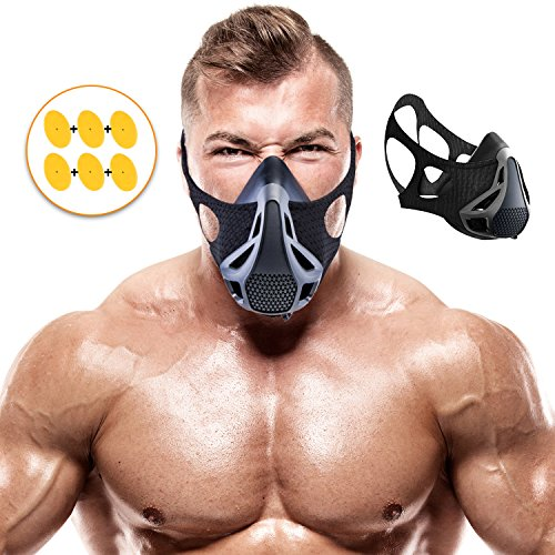Training Mask | Sport Workout for Running Biking Fitness Jogging Cardio Endurance Exercise Breathing with Air Flow Level Regulator for Men Women | Simulate High Altitude Elevation Effects by Veoxline from VEOXLINE