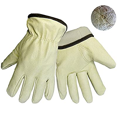 Insulated Pigskin Leather Gloves 3200PTH 1 Pair SMALL