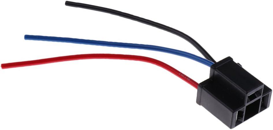 Magideal 5 X Adapter Scheinwerfer H4 Lampe Verkabelung Stecker Weiblich Auto Auto