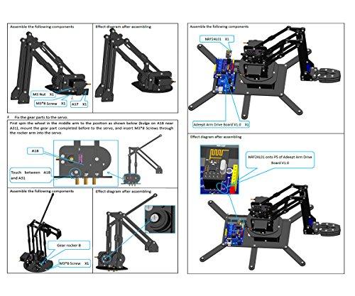 Adeept robotic arm kit arduino compatible desktop robot