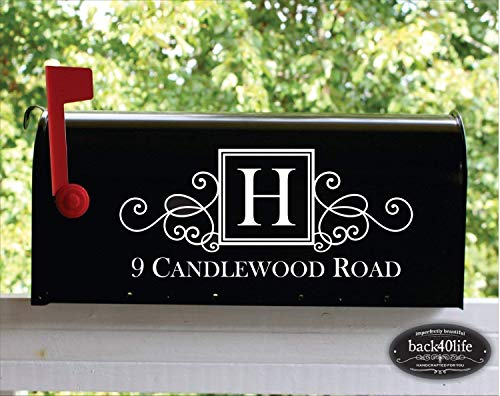 - Back40Life | Mailbox Numbers Street Address Vinyl Decal (E-004b)