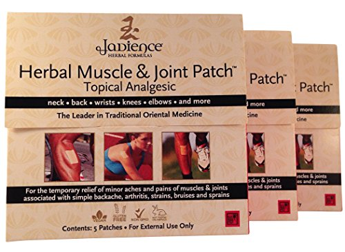 - 3 Pack Jadience Muscle & Joint Pain Relief Patch: 5 per box | Dit Da Jow | Relieves Sore Neck, Back, Shoulders, Arms, Hands, Wrists, Hips, Legs, Knees, Feet | 100% Natural Analgesic | Hypoallergenic