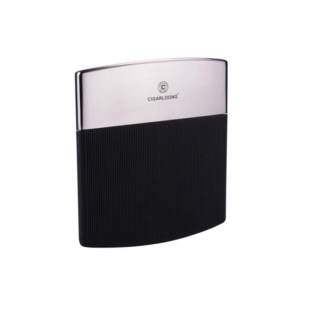 QINRUIKUANGSHAN Cigarette Case, 10 Packs of Men's Ultra-Thin Stainless Steel Portable Creative Anti-Pressure Moisture-Proof Cigarette Box, The Latest Style