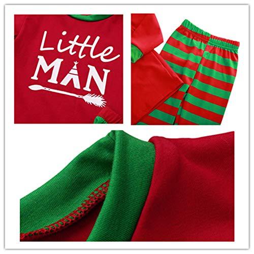Famiglia Rosso Pigiama Boy Matching verde Lettere pigiama Vacanza Natale Famiglia Completo Deylaying Costume Abbigliamento da Stampato wSzRnq