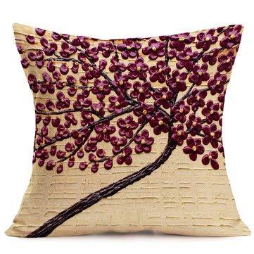 Funda de cojín de lino y algodón con diseño de elefante en ...