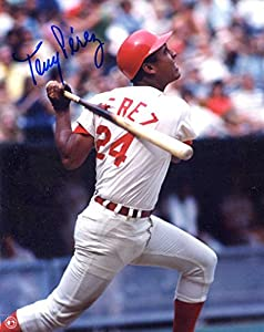 Tony Perez (HOF) Autographed/ Original Signed 8x10 Color Glossy Photo Showing Him w/ the Cincinnati Reds