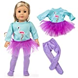 yijing Cute Ostrich Style Doll Clothes Outfits Set for 18 Inch American Toy Girl Doll Accessory Toy Gift (Light Blue)
