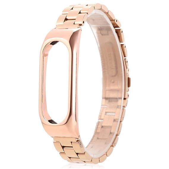 Amazon com: Xiaomi Mi Band 2 bands Metal Wrist Blet Strap Wristband