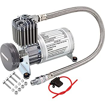Image of Vixen Horns Heavy Duty Onboard Air Compressor 150 PSI. Universal Replacement for Truck/Car Train Horn/Suspension/Ride/Bag kit/System. Fits All 12v Vehicles Like Semi/Pickup Trucks/Jeep VXC8801 Accessories & Compressors
