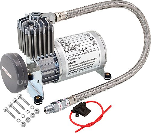 Vixen Horns 150 PSI Heavy Duty Train Horn/Suspension/Air Ride/Bag Air Compressor/Pump with 1/4