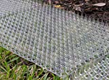 4. Cat Repellent Outdoor Scat Mat: Pet Deterrent Mats for Cats, Dogs, Pests - Indoor / Outdoor Repellent Training Spike Strip Devices - Keep Away Pest Plastic Strips with Spikes - 16 x 13 Inches, 6 Pack