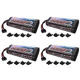 5000 mah deans - Venom 7.2V 5000mAh 6-Cell NiMH Battery with Universal Plug (EC3/Deans/Traxxas/Tamiya) x4 Packs