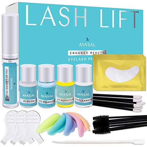 AYASAL Eyelash Perm Kit, Long-Lasting Curl, Home & Professional Use, Lash Lift Kit & Safe Perming Wave, Semi-Permanent Curling, Professional Quality.