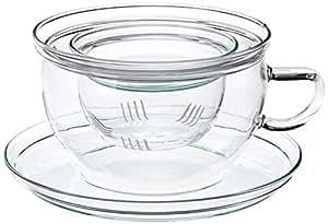 Trendglas Jena Tea Time - Taza para té con filtro de cristal (0,3 L)