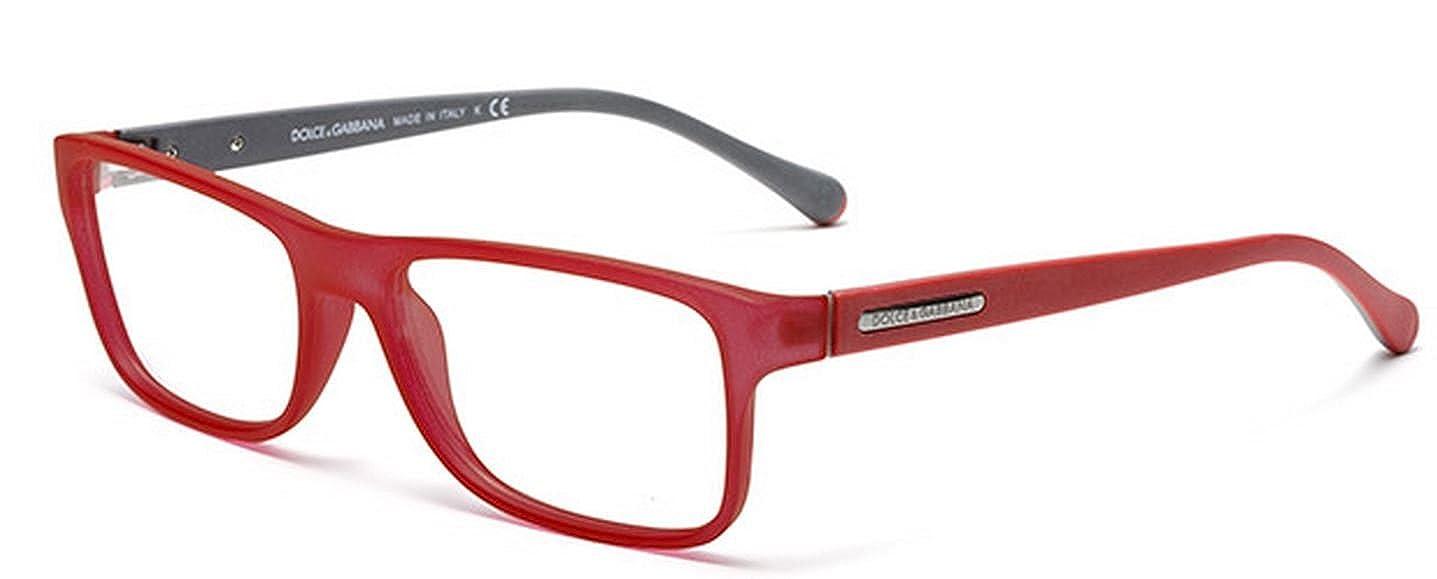 dc10afbaca5 DOLCE & GABBANA DG 5009 Eyeglasses 2812 Red Transparent Rubber 56-16-140:  Amazon.co.uk: Clothing