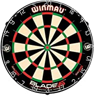 Winmau Blade 5 Dual Core Bristle Dartboard with Increased Scoring Area and Improved Dart Deflection for Reduce