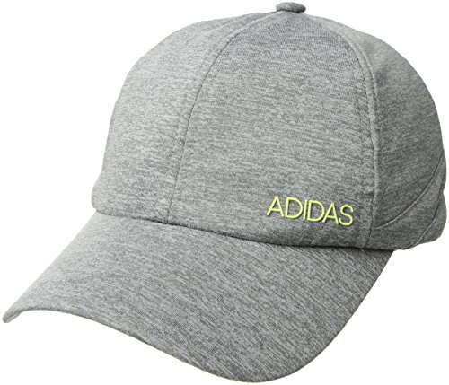 (adidas Women's Sport2street Relaxed Adjustable Cap, Grey/Clear Onix Heather/Semi Frozen Yellow, One Size)
