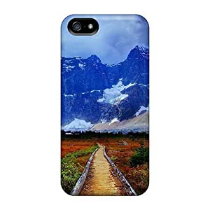 Hot Style MyIBNEl7359lZCAG Protective Case Cover For Iphone5/5s(autumn Field To A Majestic Mountain)