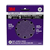 3M Pro Grade Sanding Disc, 8-Hole, 80 Grit, 5-Inch, 10-Count