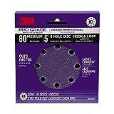 3M 88522NA-9-B Pro Grade 5-Inch 8-Hole Sanding Disc