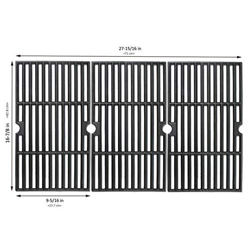 Uniflasy Cooking Grate for Charbroil 463420508, 463420509, 463420511, 463436213, 463436214, 463436215, 463440109, 463441312, 463441514, 463461613 & Thermos 461442114 Gas Grill Replacement Parts ()