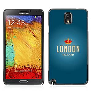 Super Stellar Slim PC Hard Case Cover Skin Armor Shell Portection // V0000633 London Vector Poster // Samsung Galaxy Note 3 N9006