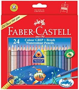 Faber-Castell Faber Castell Colour Grip Water Colour Pencils - 24 Shades
