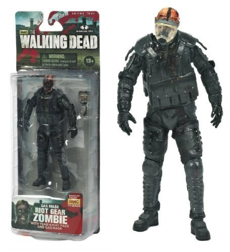 [The Walking Dead TV Series 4 Gas Mask Riot Gear Zombie AMC Figure by Happy Toys] (Toy Gas Mask)
