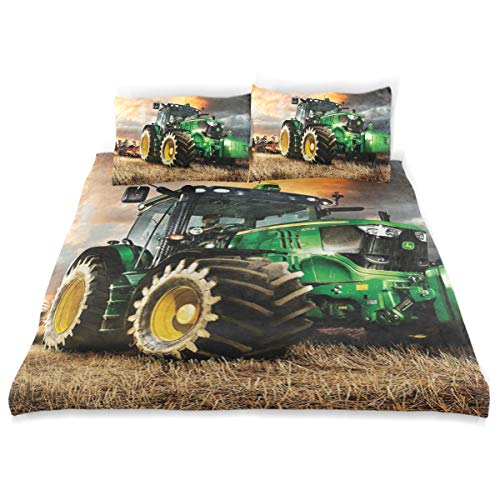 ATMAYW Simple Style Bedding Set Duvet Cover, John Deere, Bedding Duvet Cover Set, 3-Piece, Ultra Soft and Easy Care