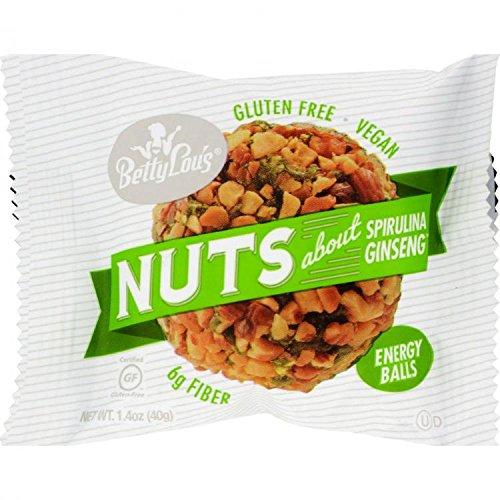 Balls Spirulina Ginseng (Betty Lous Nut Butter Balls - Spirulina Ginseng - 1.4 Ounce by Betty Lou's)
