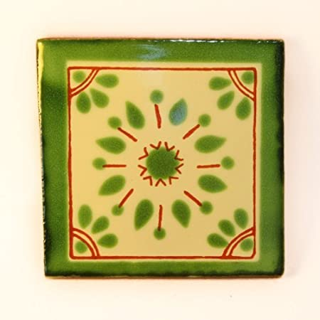 Fairly Traded Hand Painted Ceramic Mexican Tile by Tumia LAC T12860-16