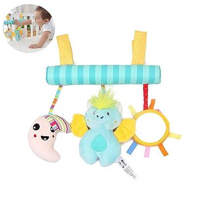 Niños felpa colgando Bell Baby cochecito suave sonajero juguete infantil confort juguete con caja de música