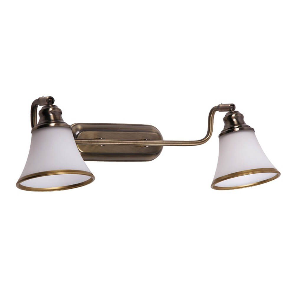 Preciosa Lámpara de Pared / 2 Luces / Iluminación para Baño / Bronce 6546n Licht-Erlebnisse