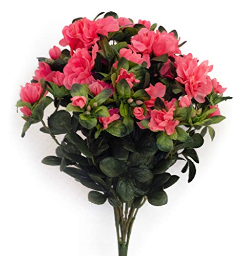 Warmly Collections by Codagraph - Artificial Azalea Flower Bouquet in Rose Pink - (1) Long Stem Plant ()
