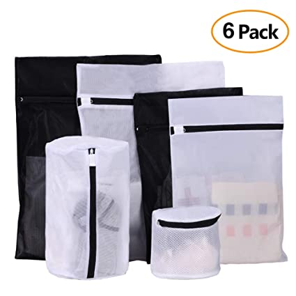 175f3b03f Image Unavailable. Image not available for. Color  Buruis Set of 6  Delicates Mesh Laundry Bag Reusable Zipper ...