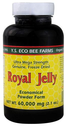 100% Pure Freeze Dried Fresh Royal Jelly - 60,000 mg YS Eco Bee Farms 2.1 oz Pow