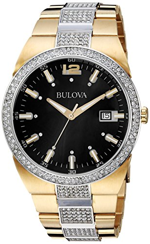 Bulova Men's 98B235 Crystal Analog Display Japanese Quartz Two Tone Watch