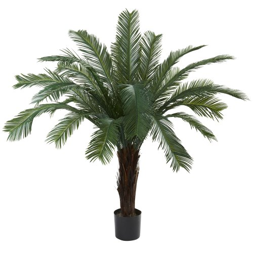 - Nearly Natural 6770 Cycas UV Resistant Tree, 5-Feet, Green