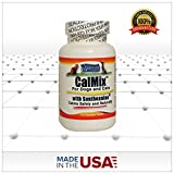 Kala Health - Calmix for Dogs and Cats - Contains L-Theanine (Suntheanine), Valerian Powder, Taurine and other Calming Ingredients- This Natural Supplement Helps Calm Nervous Pets, Reduces Stress and Anxiety thereby Promoting Relaxation and Calming Behavior - Available as 45 Chewable Treat-Like Tablets. FREE SHIPPING!