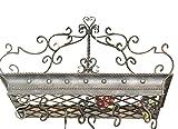 Posh ITALIAN SCROLLWORK Iron POT RACK Pan Hanging Ceiling Luxe Designer Metal
