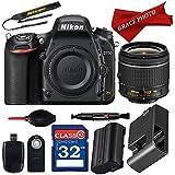 Nikon D750 24.3MP HD FX-Format Digital SLR Camera w/AF-P DX NIKKOR 18-55mm f/3.5-5.6G VR Lens with Professional Accessory Bundle (12 items) …