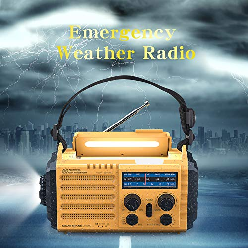 10Pcs Emergency Solar Power Weather Radio Receiver Lighting Torch SOS USB Charge