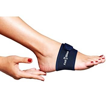 Padded Arch Support Compression Wrap With Adjustable Strap By Foot Bliss For Arch Pain Plantar