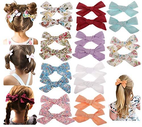 "Baby Girls Big Bow Hair Clip,Set Alligator Clips for Girls Toddler Children Hair Accessories (BOW 3.15"", 20pcs-red/purple/white/orange/blue)"