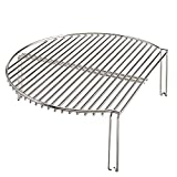 15'' Kamado Grill Extender Rid Racks Increase Grilling Surface Smoker Stainless Steel Works for Kamado Smoker Joe … (Stainless steel)
