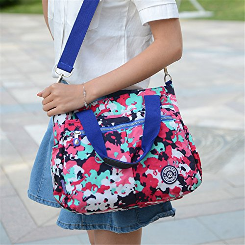 Blue Resistant Handbag Navy Tiny Messenger Shoulder Crossbody Nylon Bag Tote Detachable Water with Chou Strap qwUE6F
